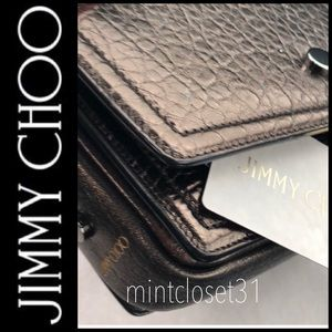 🆕 Jimmy Choo Italy Leather Crossbody Bag